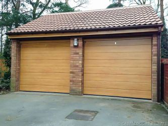 Light Oak Sectional Garage Doors with Remote Control Anlaby