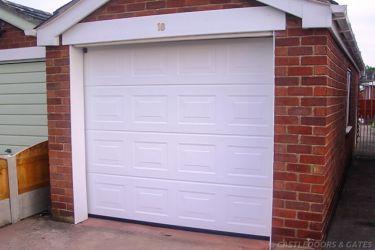 white panel garage door